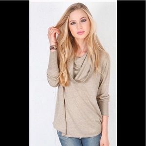 Joie Wesley Cowl Neck Sweater in Mauve